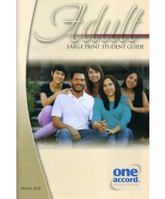 Adult Large Print Student Guide / Spring